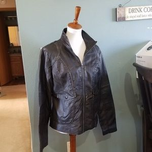 Maurices Black Faux Leather Jacket